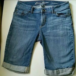 Eddie Bauer long jean shorts